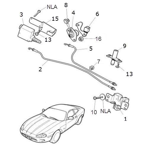Trunk Lock and Latch: Terrys Jaguar Parts