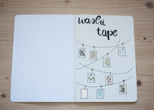 washitape collection bullet journal