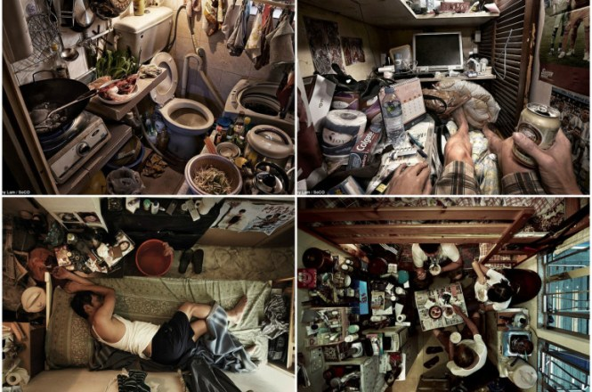 Shocking Pictures Of Hong Kong Coffin Homes Show Chopping Boards Feet Away From Toilets In Cramped Apartments