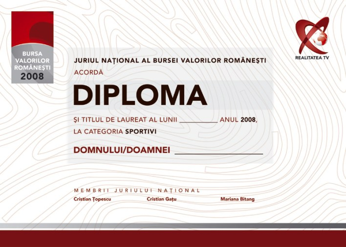 RTV - 10 for Romania - diploma