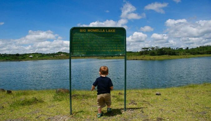 Big lake, small boy