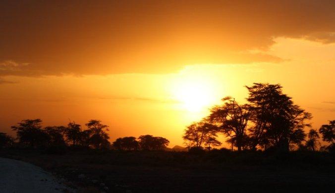 Zonsondergang West Kilimanjaro