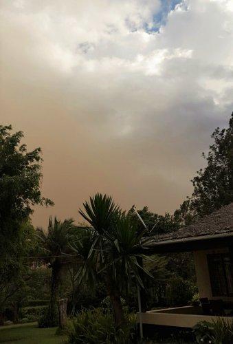 Stofstorm raast over Arusha