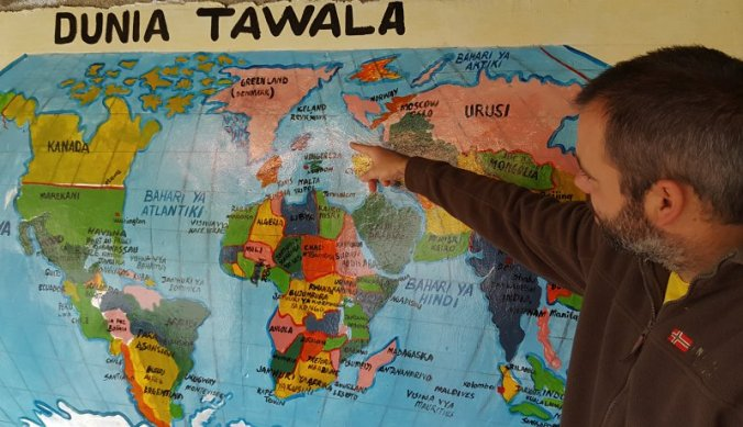 De wereldkaart volgens een van de basisscholen in de omgeving