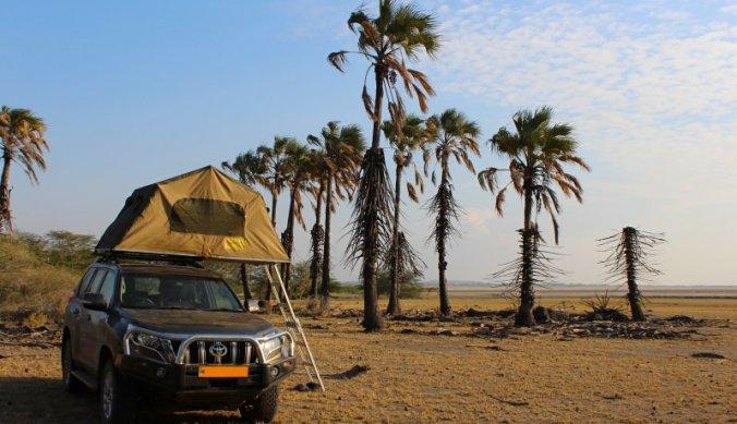 Idyllische kampeerplek aan Lake Eyasi