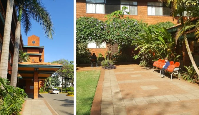Aga Khan hospital in Nairobi voor ongelukjes in een klein hoekje