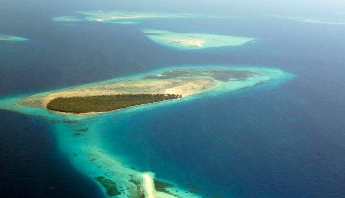 Zanzibar eiland vanuit de lucht