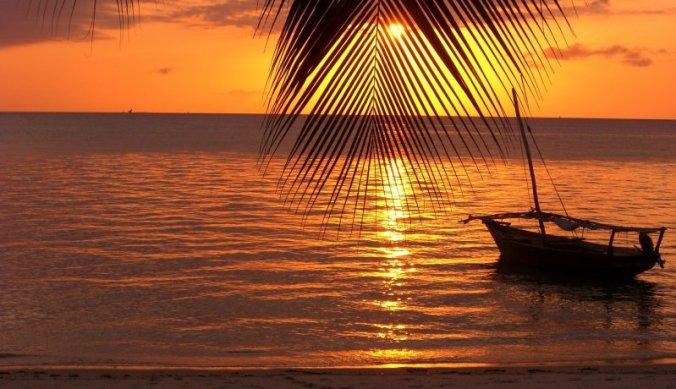 Zonsondergang op Zanzibar verveelt nooit