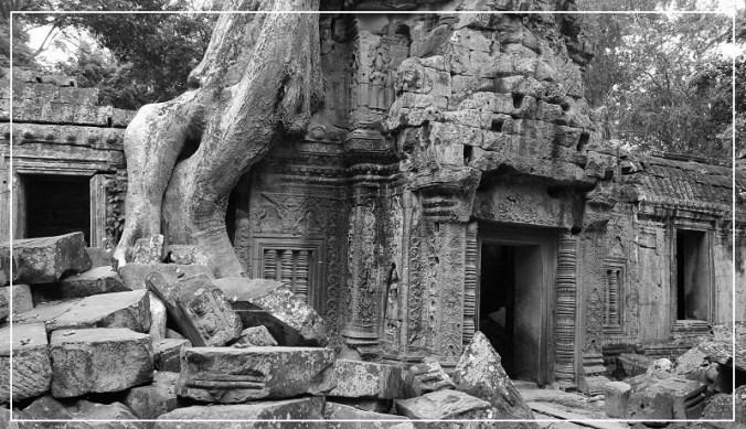Imposante tempel Angkor Wat in Cambodja