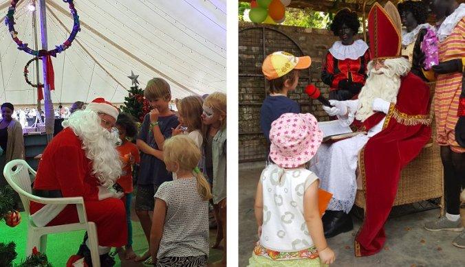 Kerstman en Sinterklaas in een weekend samen