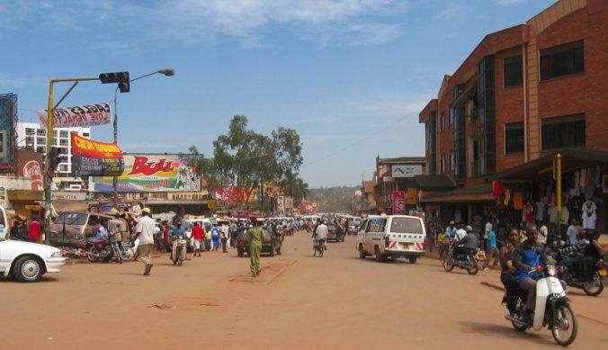 Centrum van Kampala, de hoofdstad van Oeganda