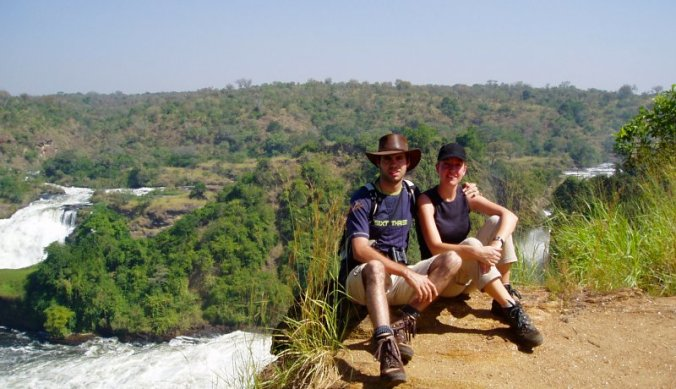Murchison Falls on Top of the Falls bij de river Nile