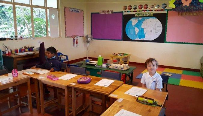 Eerste schooldag in de klas Year 1