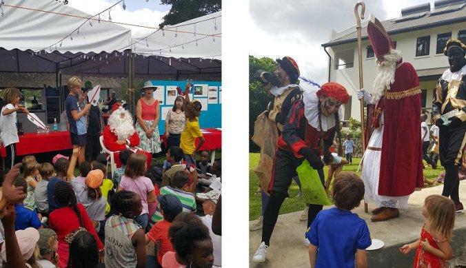 Sinterklaas en Kerstman op bezoek in Arusha