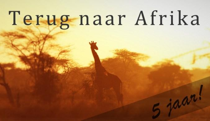 Terug naar Afrika 5 jaar