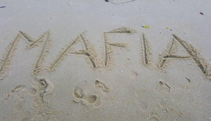 Mafia Island in het zand
