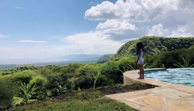Uitzicht over de Rift Vallei vanaf Migombani Camp