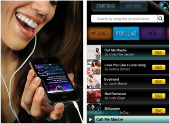iphone app sing a song