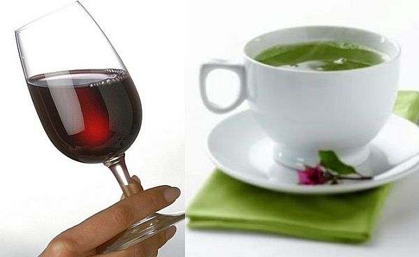 Red wine dan Teh Hijau