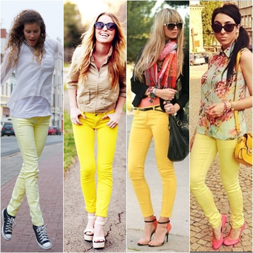 Tren Fashion 2013 - Celana Warna Kuning