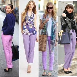 Tren Fashion 2013 - Celana Warna Lilac