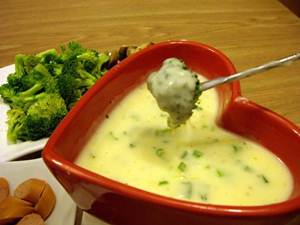 Membuat Cheese Fondue