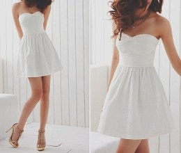 aksesoris white dress