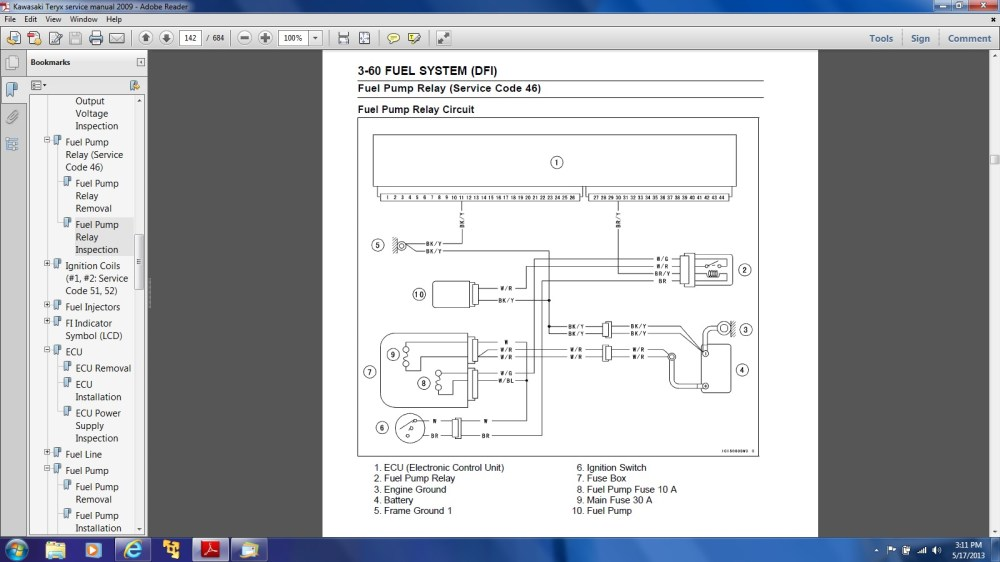 medium resolution of  mule 3010 wiring diagram no power to fuel pump ecu issues kawasaki teryx forumclick image for larger version name