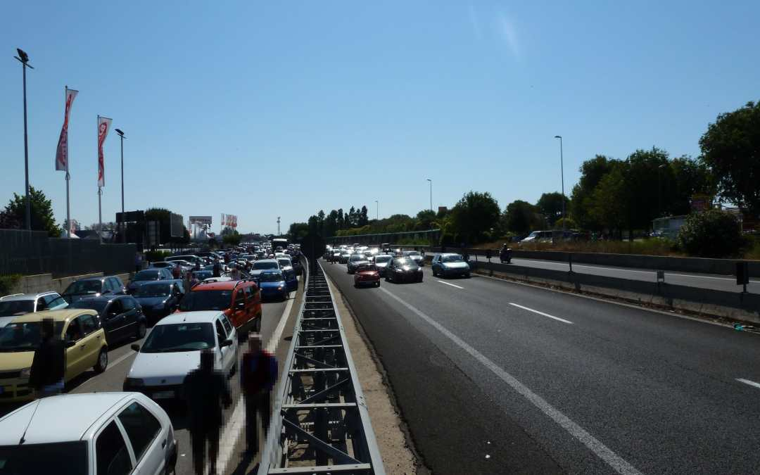 Traffico di rientro sull'Aurelia