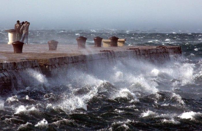 Allerta meteo sul Lazio: mareggiate e burrasche