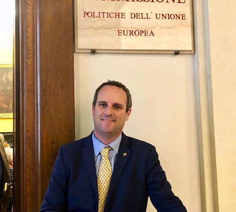 Alessandro Battilocchio è stato nominato membro della commissione politiche dell'Unione Europea della Camera dei Deputati