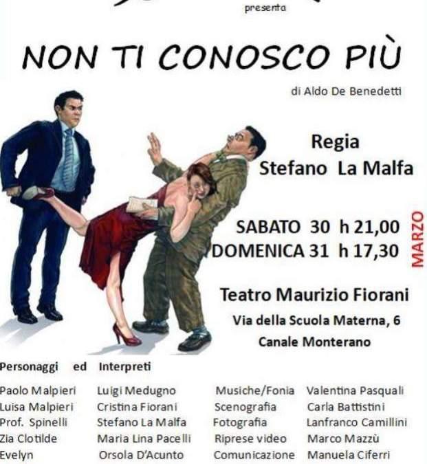 """Canale Monterano, Suaviter in scena con """"Non ti conosco più"""""""