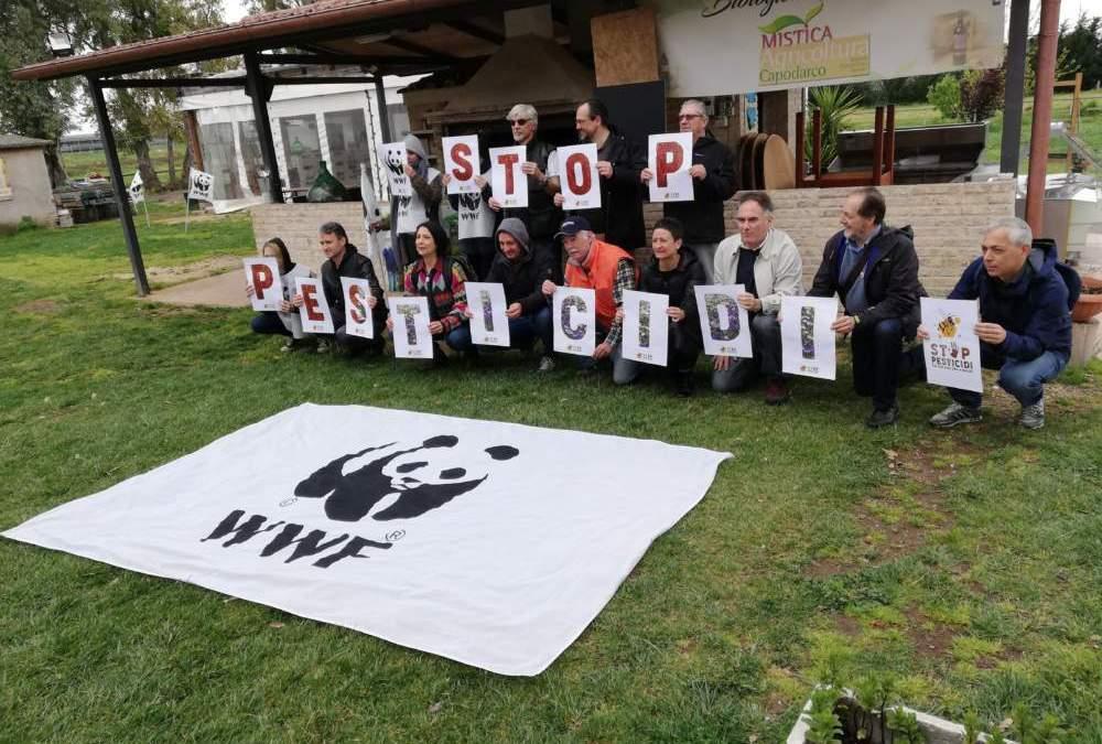 "Tor Tre Teste, ""Stop pesticidi"": flash mob dei volontari WWF"