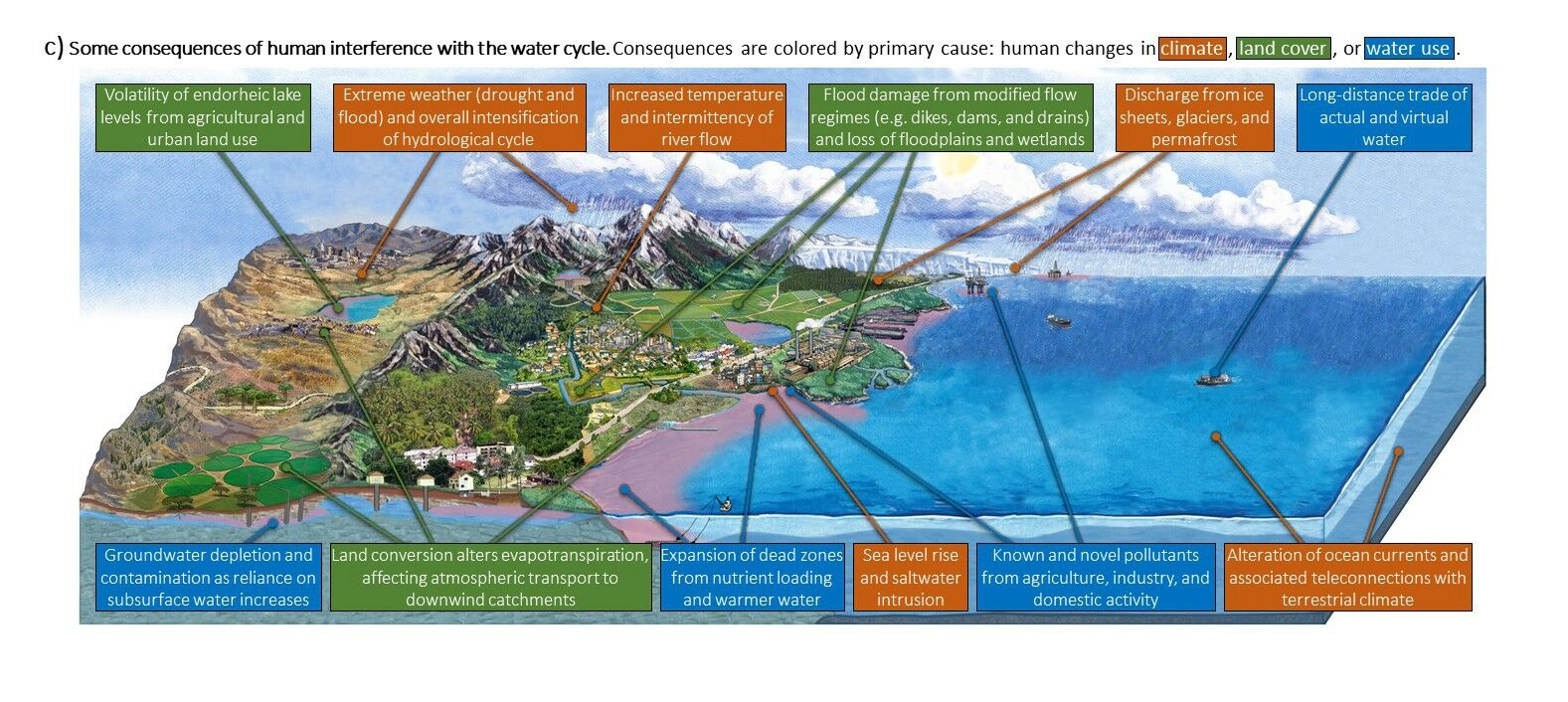 hight resolution of updated water cycle diagram