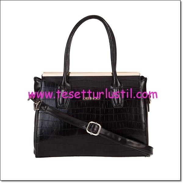 Derimod siyah krokodil kol çantası-114,50 TL