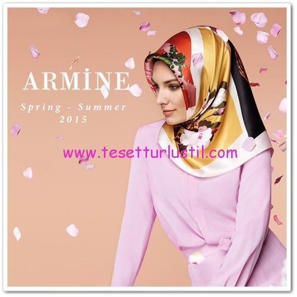 Armine 2015 çiçekli eşarplar