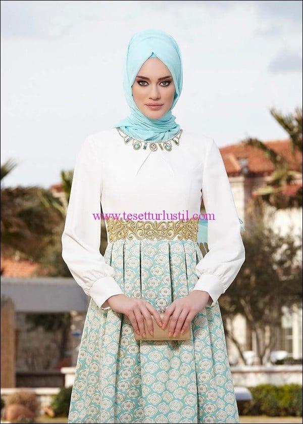 973ecb29dfcb6 Alvina-jakar-tesettur-abiye-elbise-turkuaz | Tesettürlü Giyim Stilleri