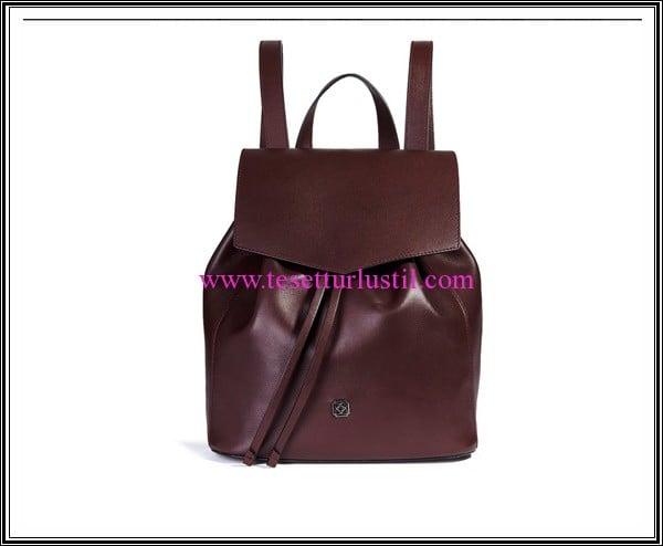 Desa 2016 bordo deri sırt çantası-599 TL