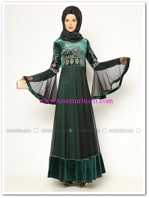 kadife-abiye-elbise-yesil-jazzline-200 TL