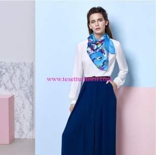 Aker 2016 yaz mavi eşarp modelleri