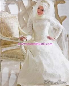 Fatma Sevildi tesettür gelinlik modelleri