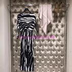 Jaade desenli uzun elbise