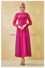 nihan mor dantelli abiye elbise-200 TL