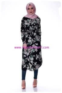 cicekli-tunik-7241-siyah-kiraz giyim
