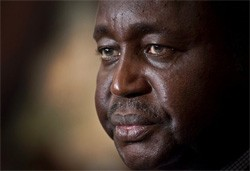 Deposed President of the Central African Republic, Francois Bozize