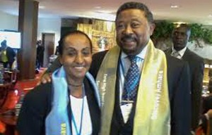 Dr. Alganesh at the 2nd High Level Tana Forum with Jean Ping