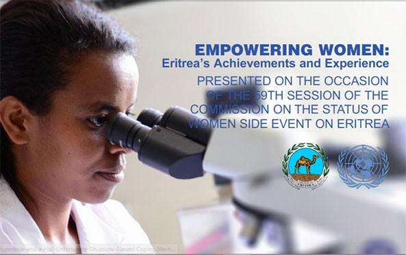 Empowering Women: UN Report 2015 – Eritrea