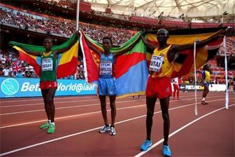 Yemane Tsegay of Ethiopia won silver
