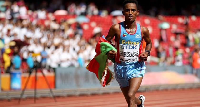 Ghirmay Ghebreslassie makes marathon history in Beijing