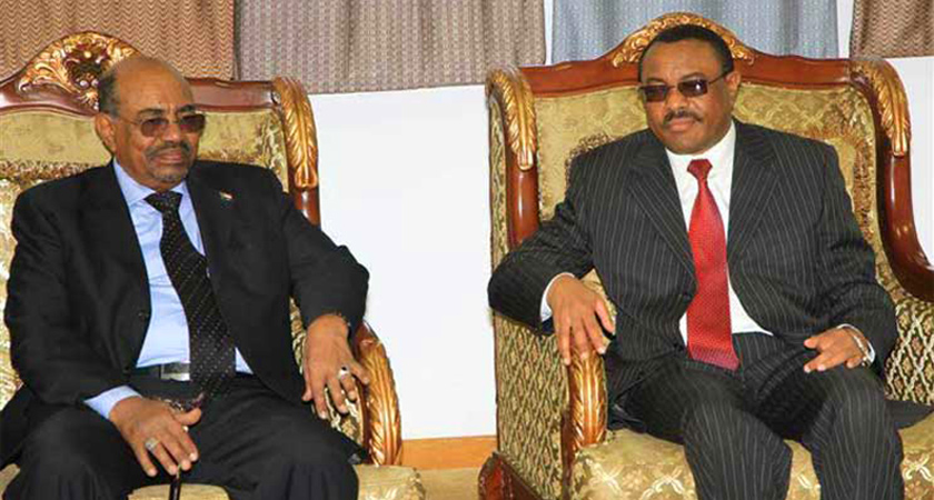 Hailemariam Desalegn and Omar Al-Bashir agreed to demarcate their common border